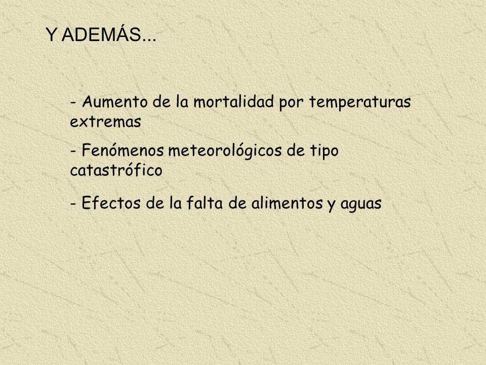 Y ADEMÁS... - Aumento de la mortalidad por temperaturas extremas
