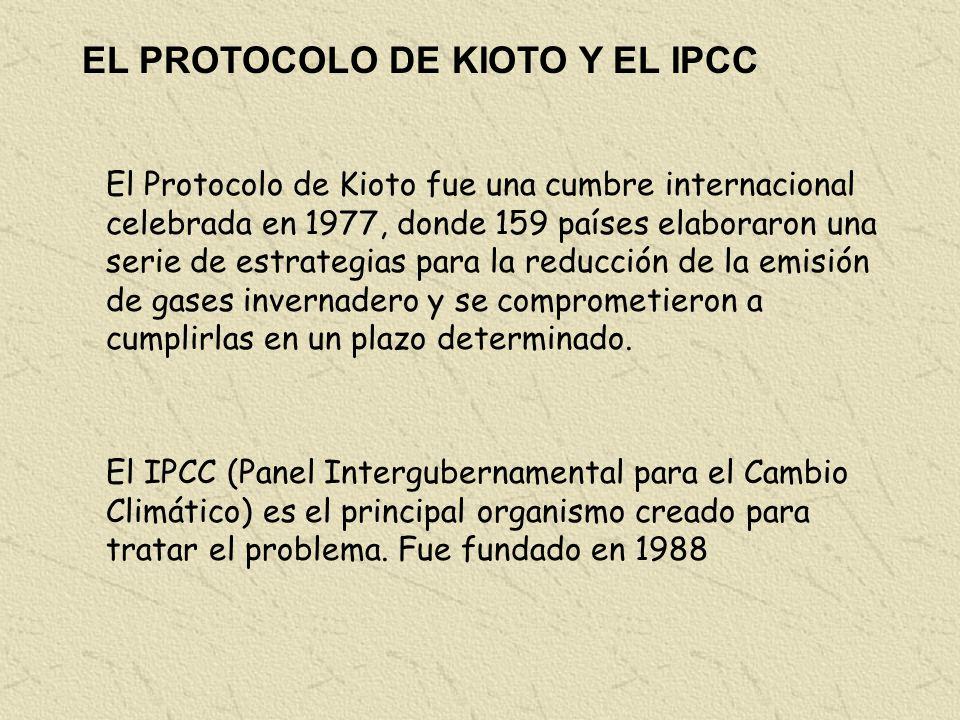 EL PROTOCOLO DE KIOTO Y EL IPCC