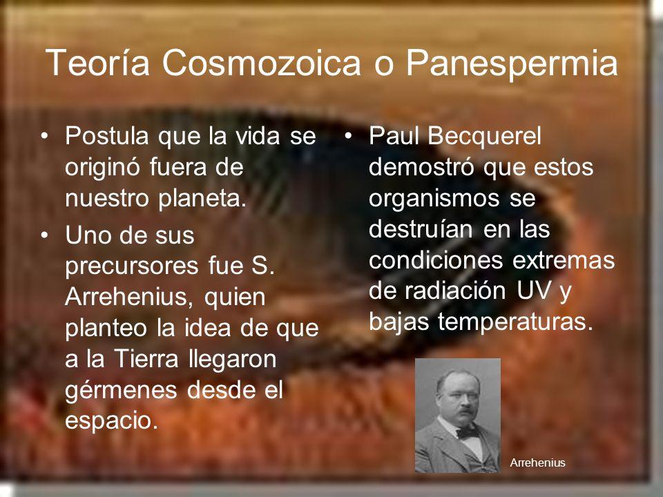 Teoría Cosmozoica o Panespermia