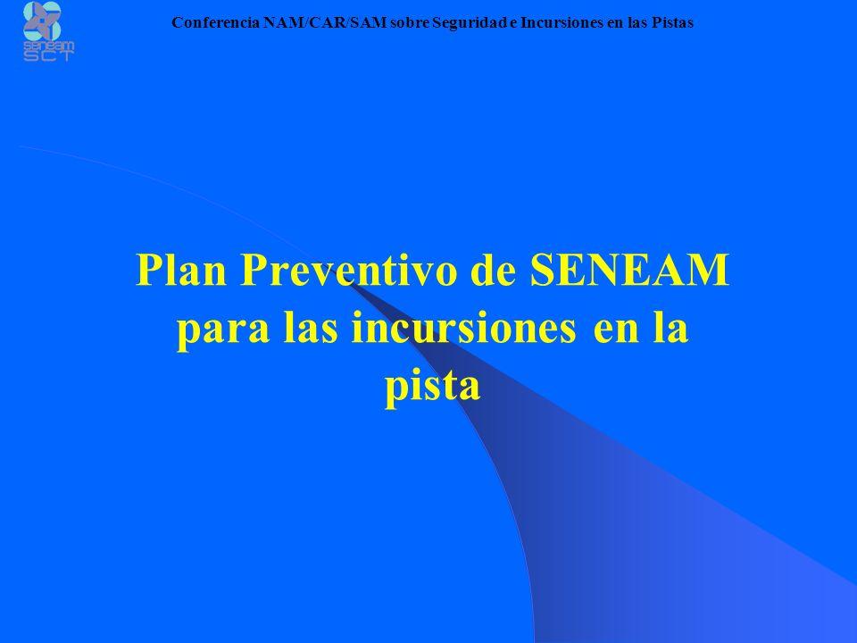 Plan Preventivo de SENEAM para las incursiones en la pista