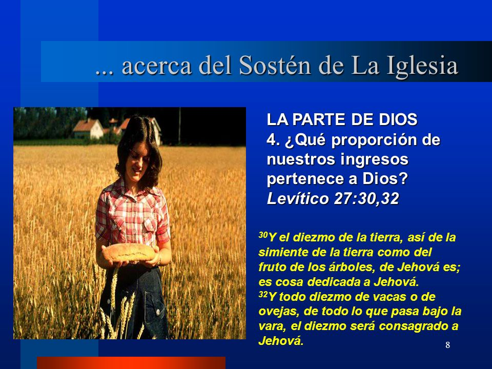 ... acerca del Sostén de La Iglesia