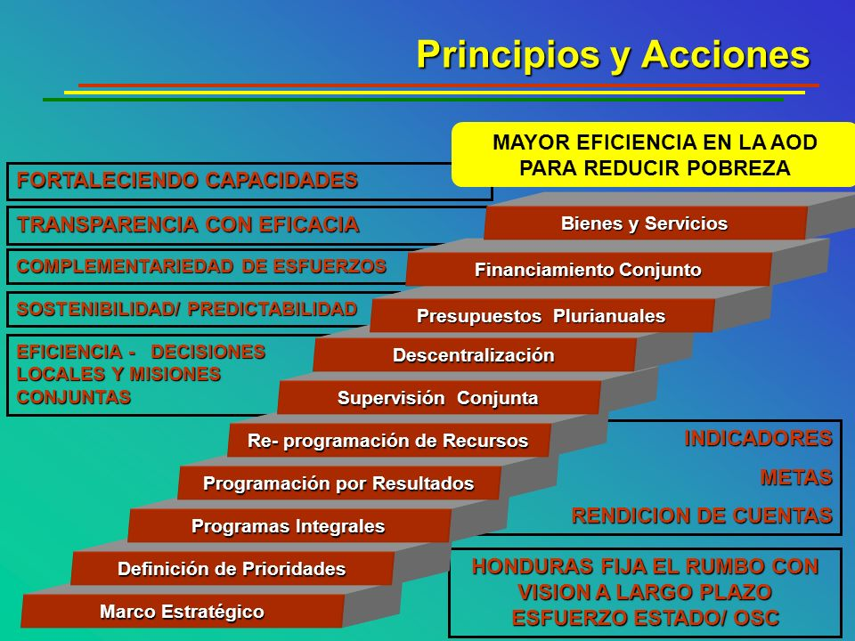 Principios y Acciones MAYOR EFICIENCIA EN LA AOD PARA REDUCIR POBREZA