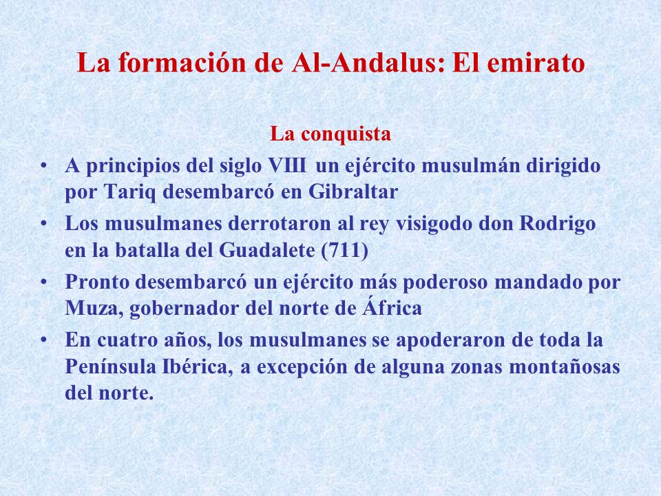 La formación de Al-Andalus: El emirato