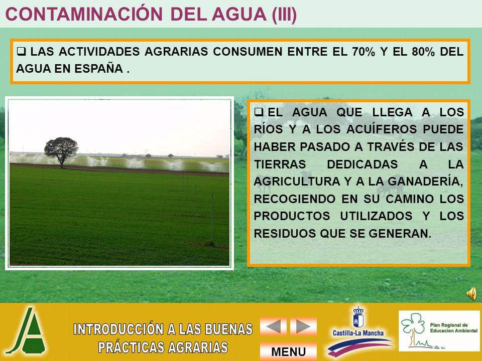 CONTAMINACIÓN DEL AGUA (III)