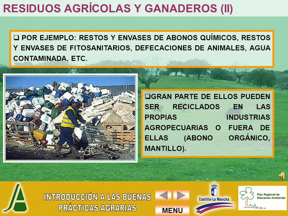 RESIDUOS AGRÍCOLAS Y GANADEROS (II)