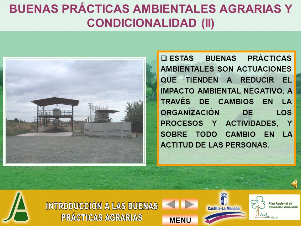 BUENAS PRÁCTICAS AMBIENTALES AGRARIAS Y CONDICIONALIDAD (II)