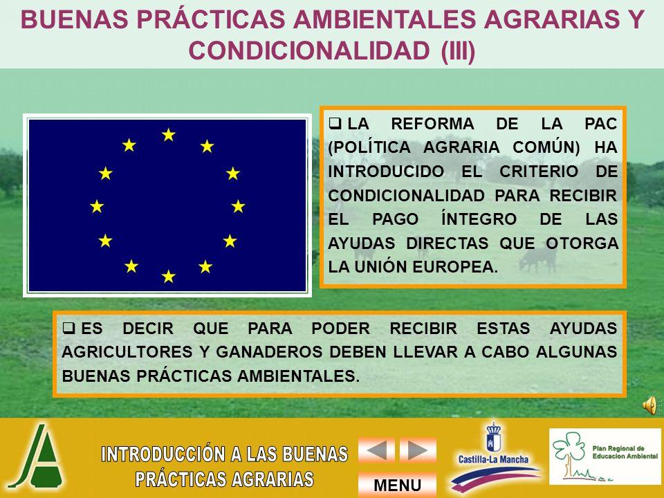 BUENAS PRÁCTICAS AMBIENTALES AGRARIAS Y CONDICIONALIDAD (III)