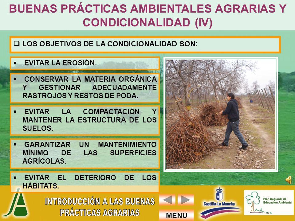 BUENAS PRÁCTICAS AMBIENTALES AGRARIAS Y CONDICIONALIDAD (IV)
