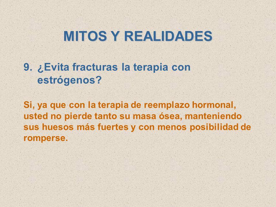 MITOS Y REALIDADES ¿Evita fracturas la terapia con estrógenos