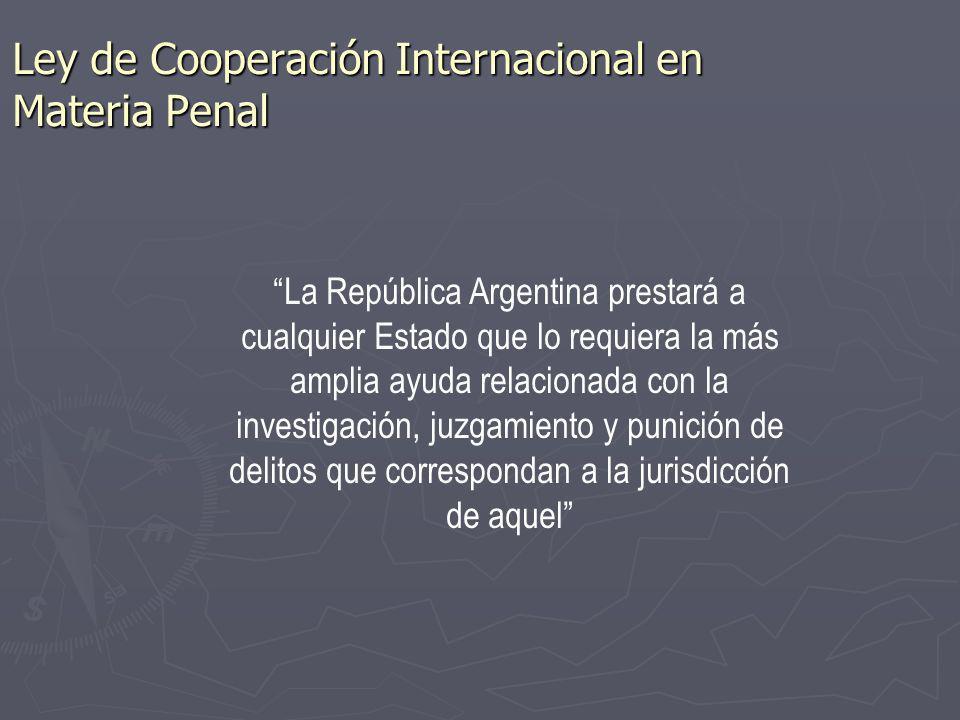 Ley de Cooperación Internacional en Materia Penal