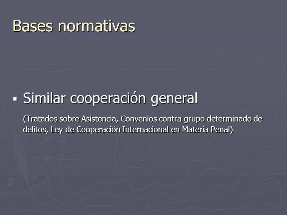 Bases normativas Similar cooperación general