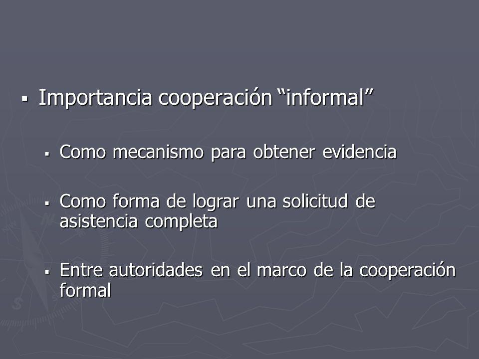 Importancia cooperación informal