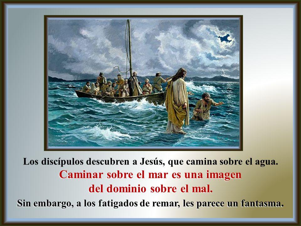 Caminar sobre el mar es una imagen del dominio sobre el mal.