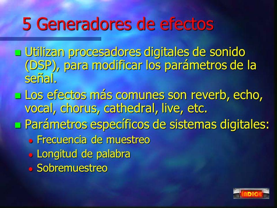 5 Generadores de efectos