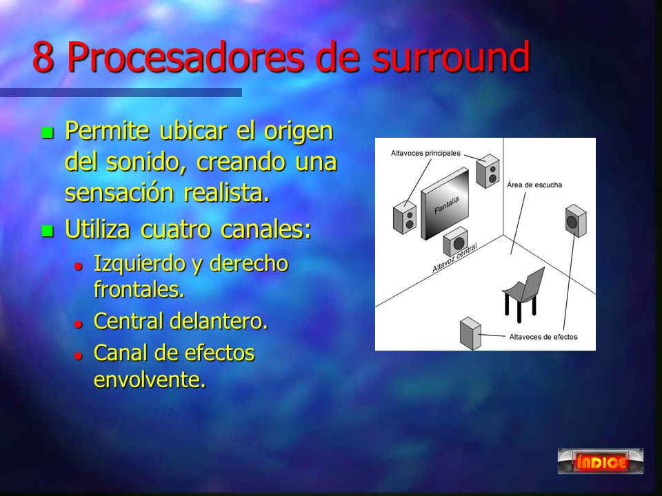 8 Procesadores de surround