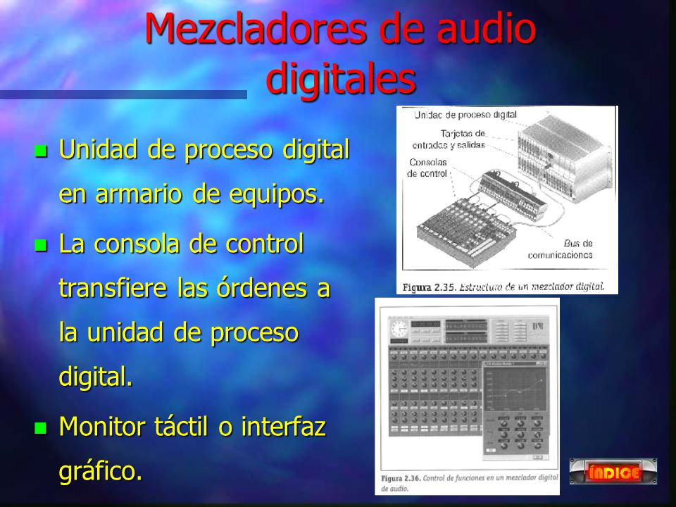 Mezcladores de audio digitales