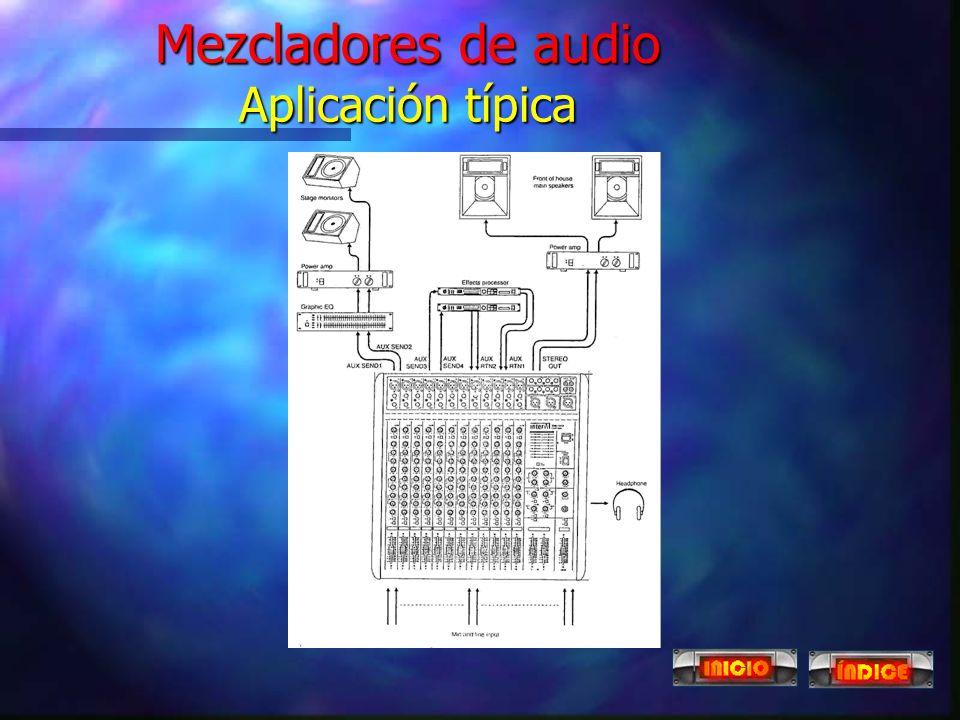 Mezcladores de audio Aplicación típica