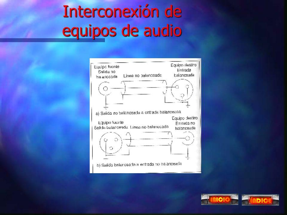 Interconexión de equipos de audio