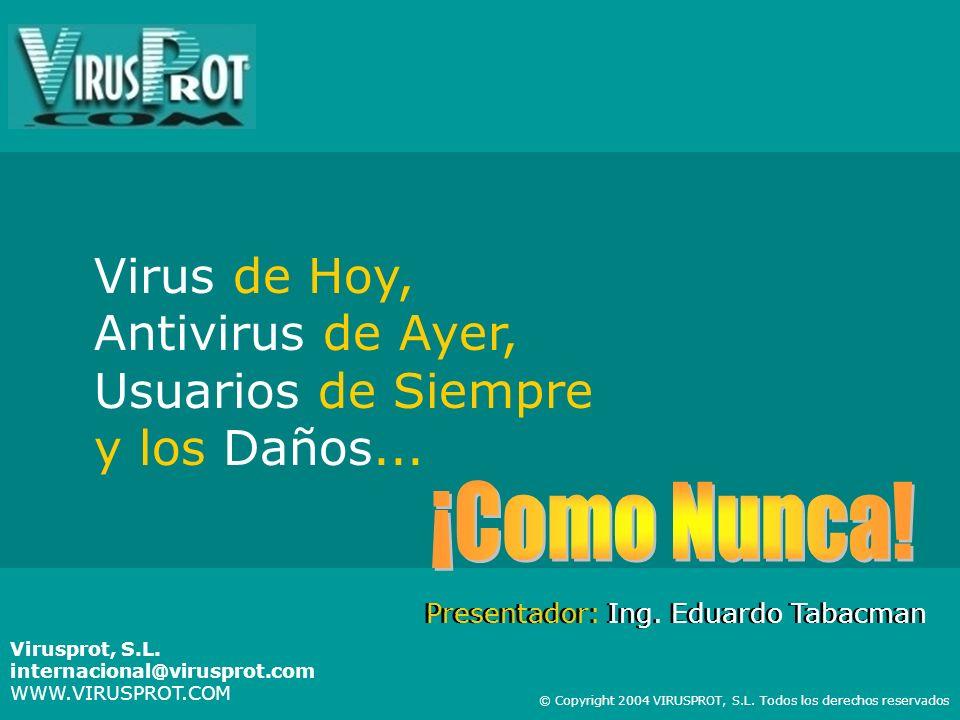 Virus de Hoy, Antivirus de Ayer, Usuarios de Siempre y los Daños...