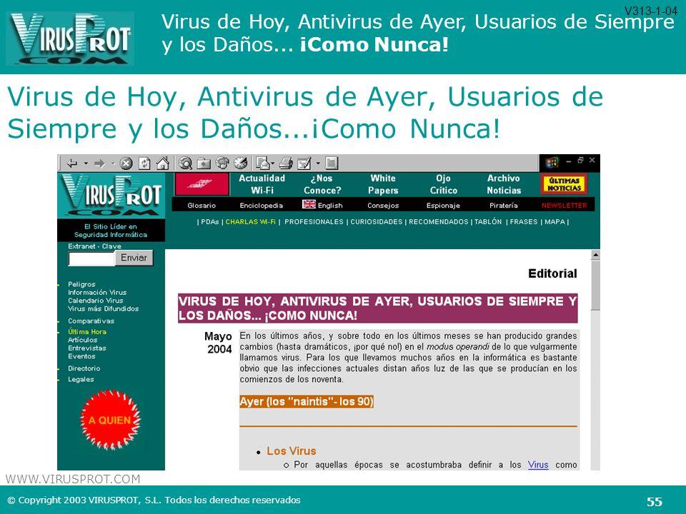 V313-1-04 Virus de Hoy, Antivirus de Ayer, Usuarios de Siempre y los Daños...¡Como Nunca!