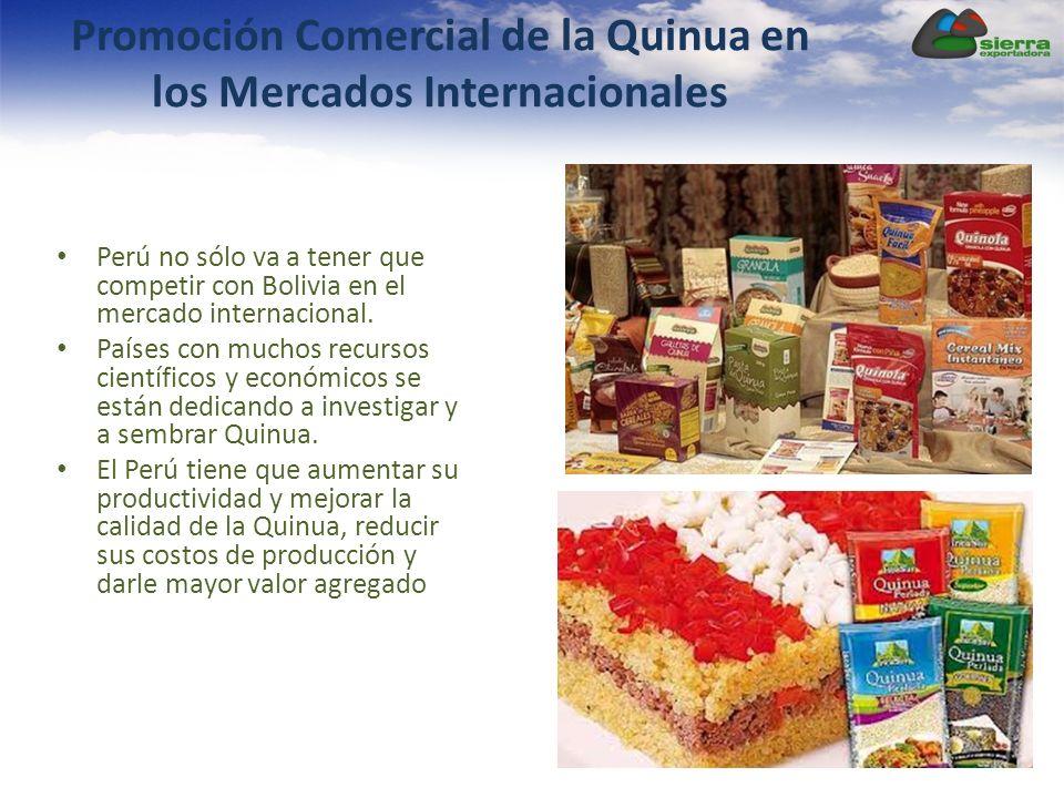 Promoción Comercial de la Quinua en los Mercados Internacionales