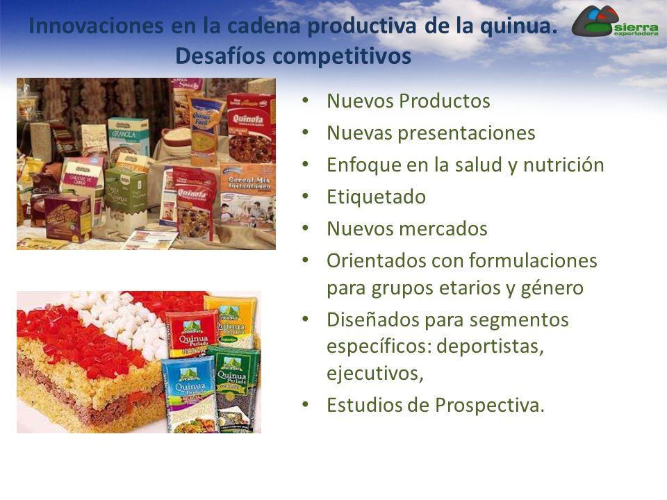 Innovaciones en la cadena productiva de la quinua