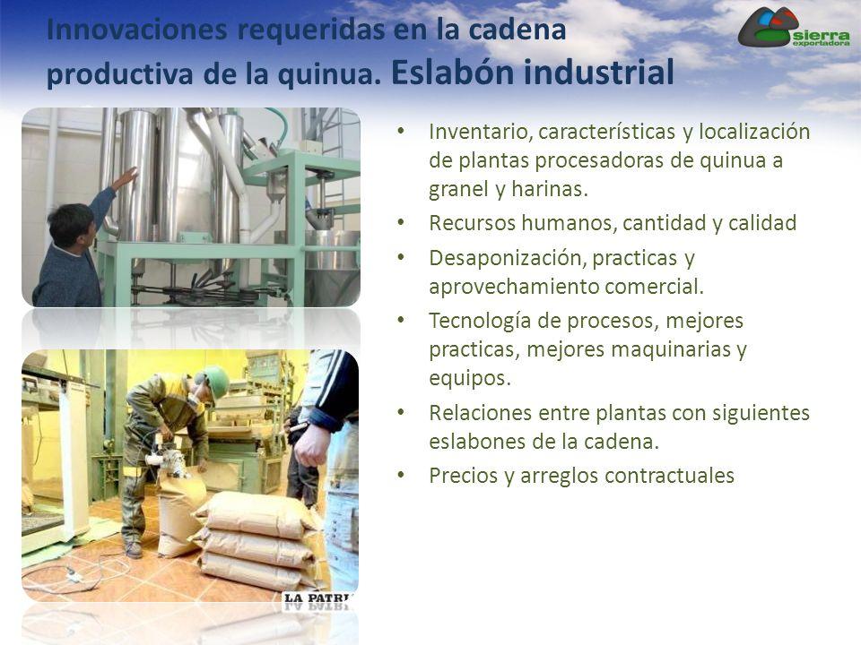 Innovaciones requeridas en la cadena productiva de la quinua