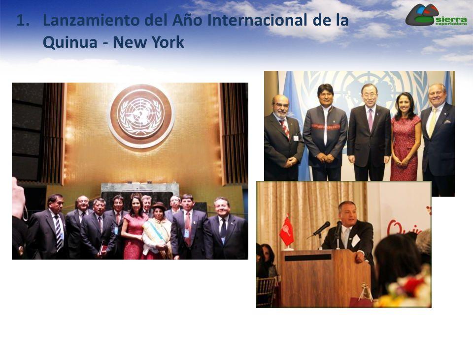Lanzamiento del Año Internacional de la Quinua - New York