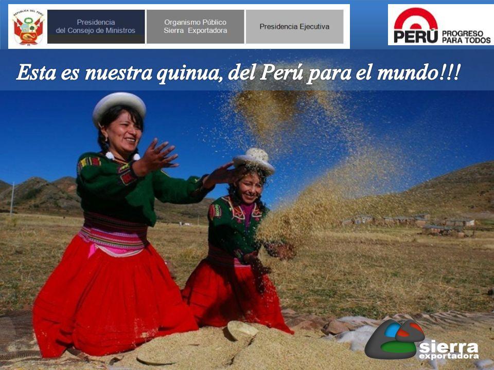 Esta es nuestra quinua, del Perú para el mundo!!!