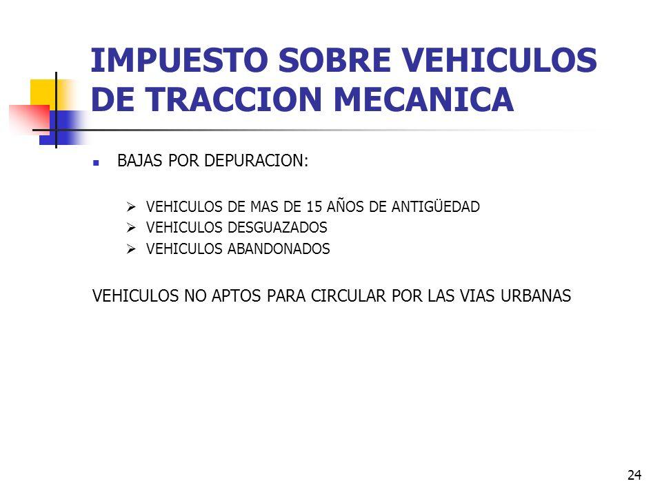 IMPUESTO SOBRE VEHICULOS DE TRACCION MECANICA
