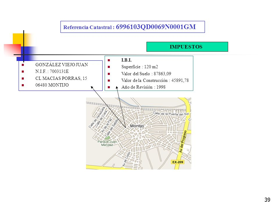 Referencia Catastral : 6996103QD0069N0001GM