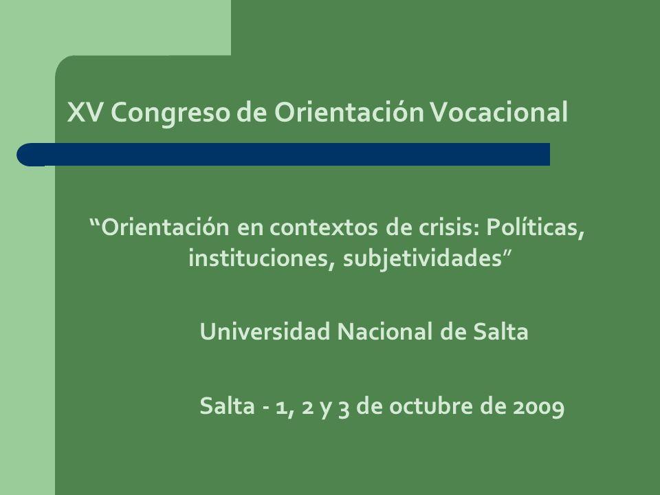 XV Congreso de Orientación Vocacional