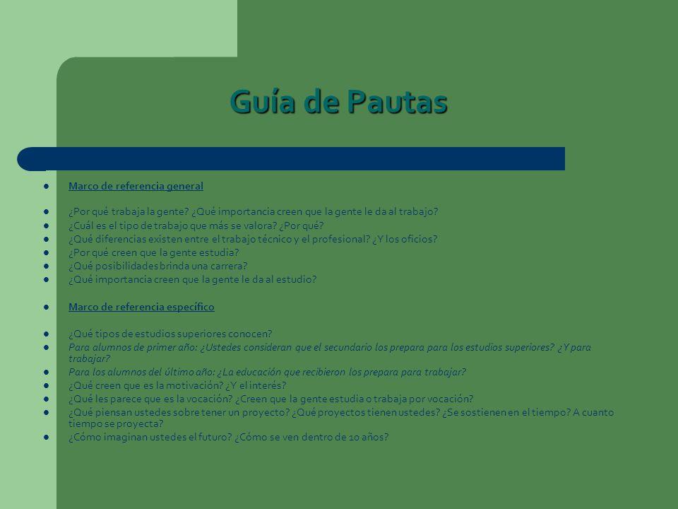 Guía de Pautas Marco de referencia general