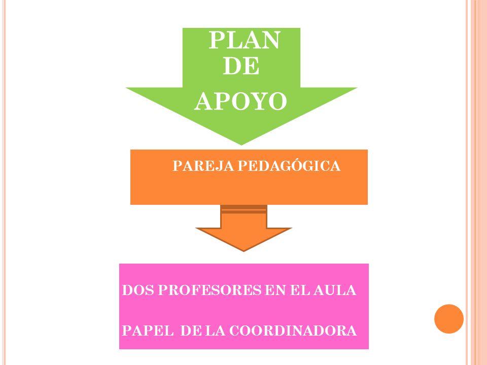 DOS PROFESORES EN EL AULA PAPEL DE LA COORDINADORA