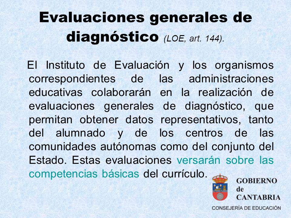 Evaluaciones generales de diagnóstico (LOE, art. 144).