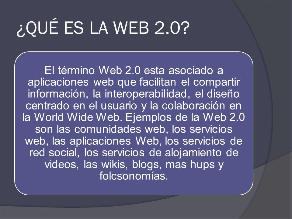 ¿QUÉ ES LA WEB 2.0
