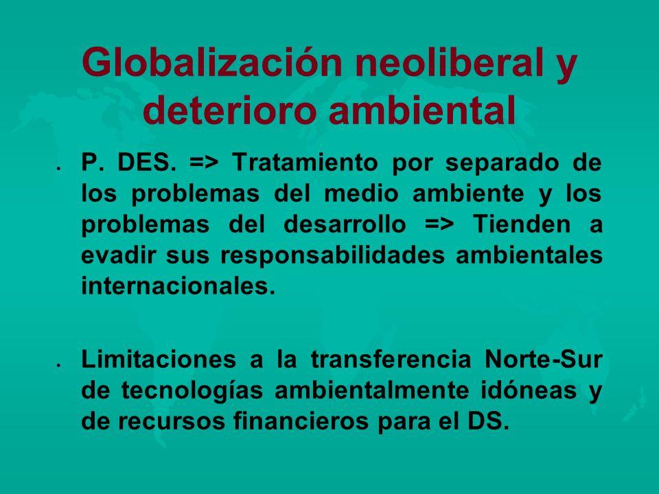 Globalización neoliberal y deterioro ambiental