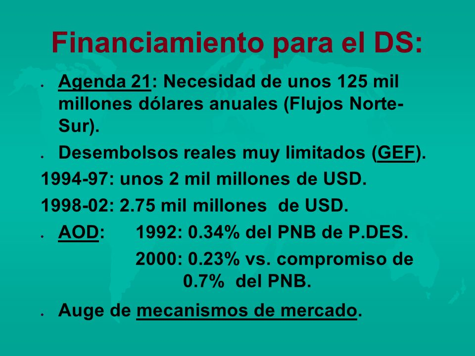 Financiamiento para el DS: