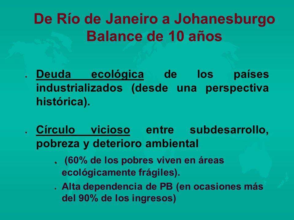 De Río de Janeiro a Johanesburgo Balance de 10 años