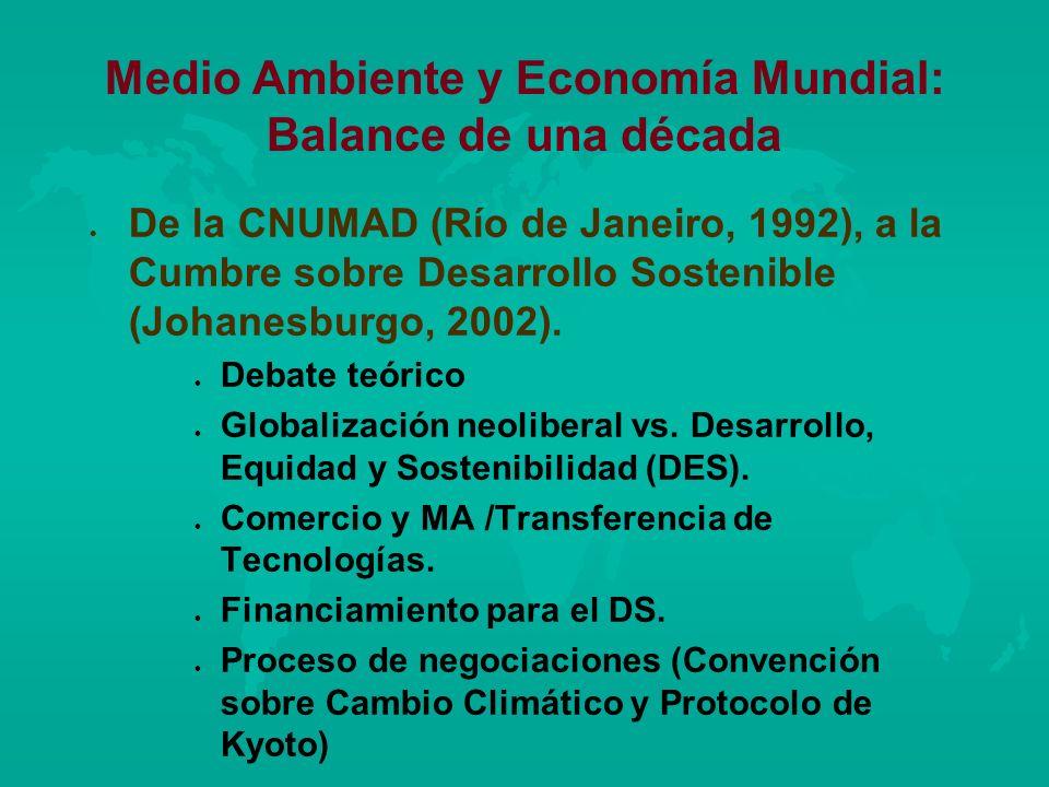 Medio Ambiente y Economía Mundial: Balance de una década