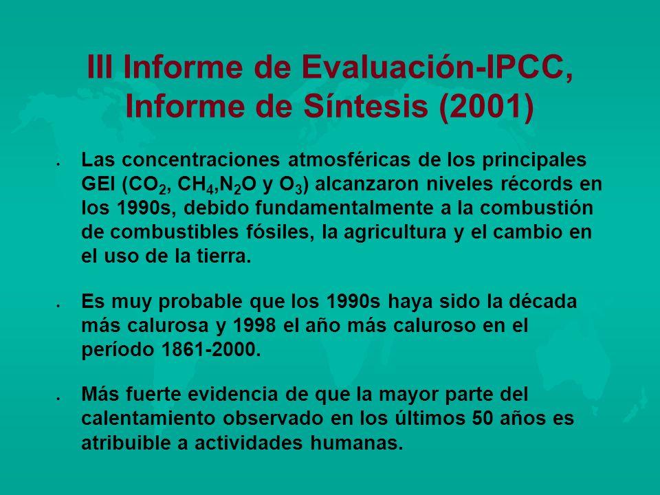 III Informe de Evaluación-IPCC, Informe de Síntesis (2001)
