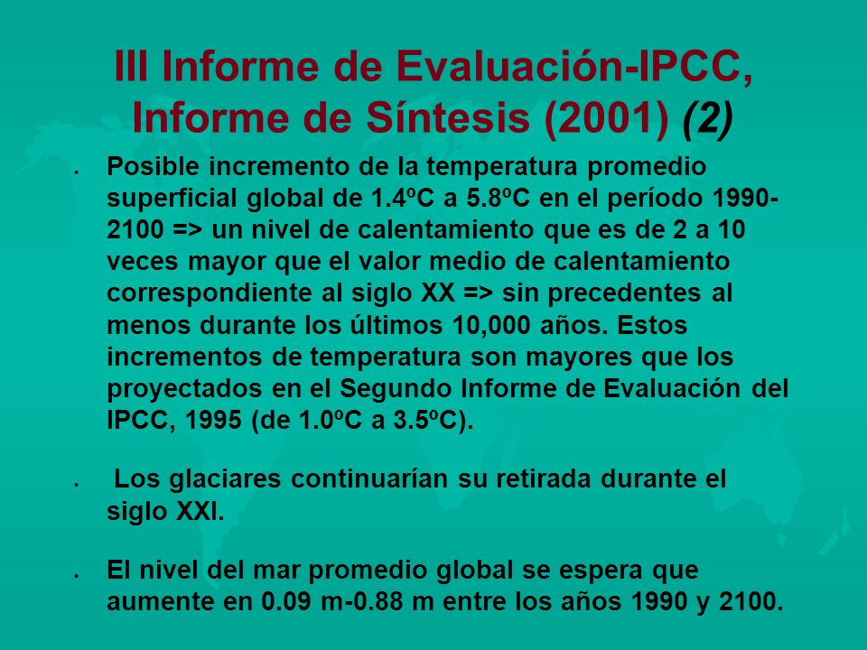 III Informe de Evaluación-IPCC, Informe de Síntesis (2001) (2)