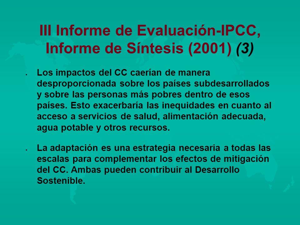 III Informe de Evaluación-IPCC, Informe de Síntesis (2001) (3)