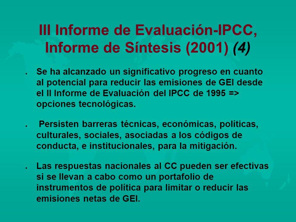 III Informe de Evaluación-IPCC, Informe de Síntesis (2001) (4)