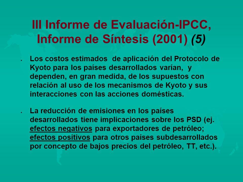 III Informe de Evaluación-IPCC, Informe de Síntesis (2001) (5)