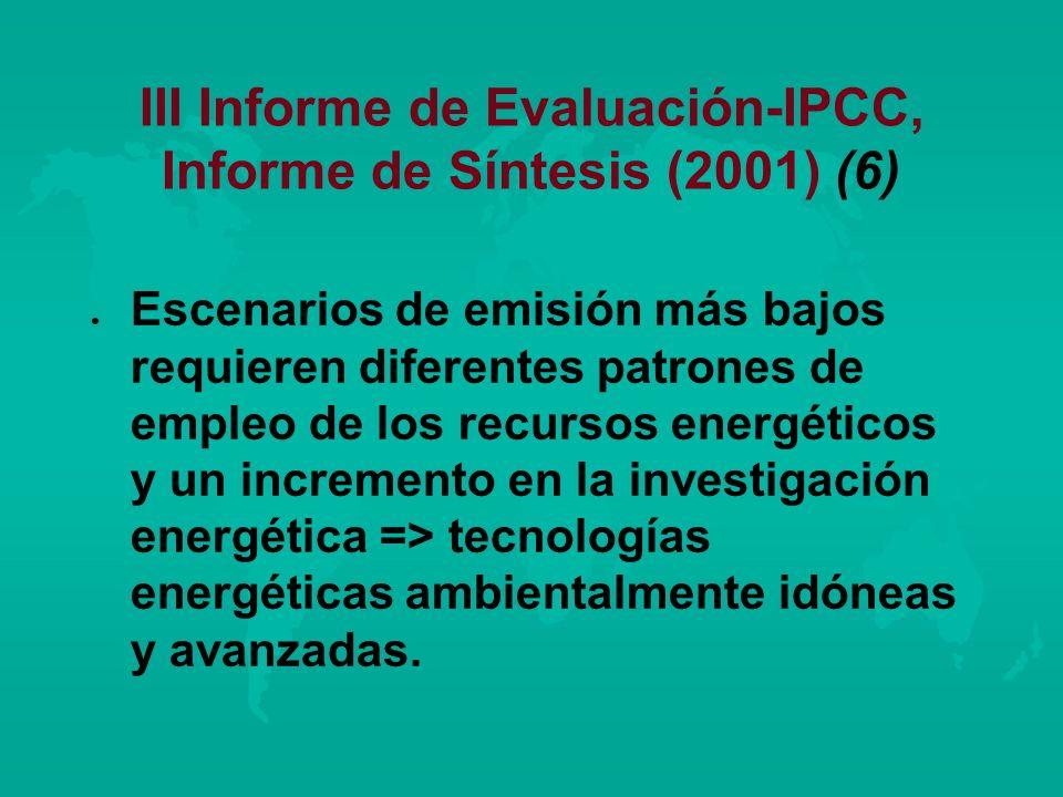 III Informe de Evaluación-IPCC, Informe de Síntesis (2001) (6)