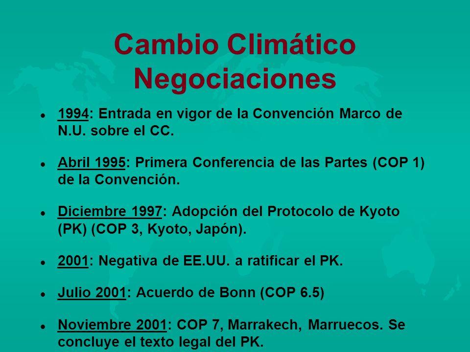 Cambio Climático Negociaciones