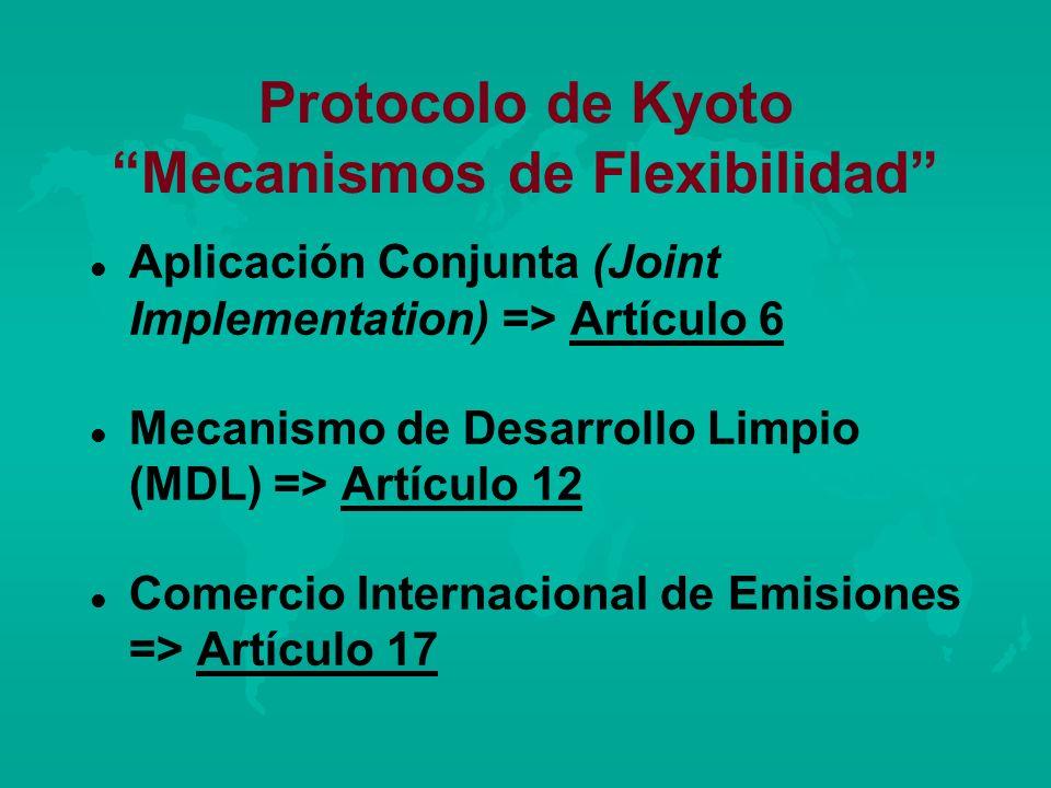 Protocolo de Kyoto Mecanismos de Flexibilidad