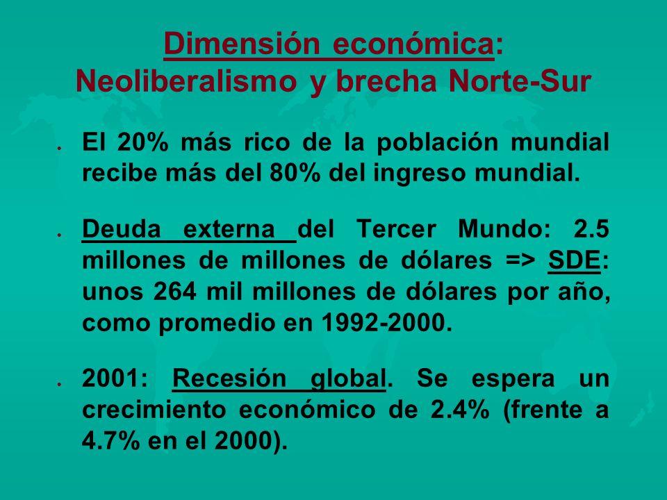 Dimensión económica: Neoliberalismo y brecha Norte-Sur
