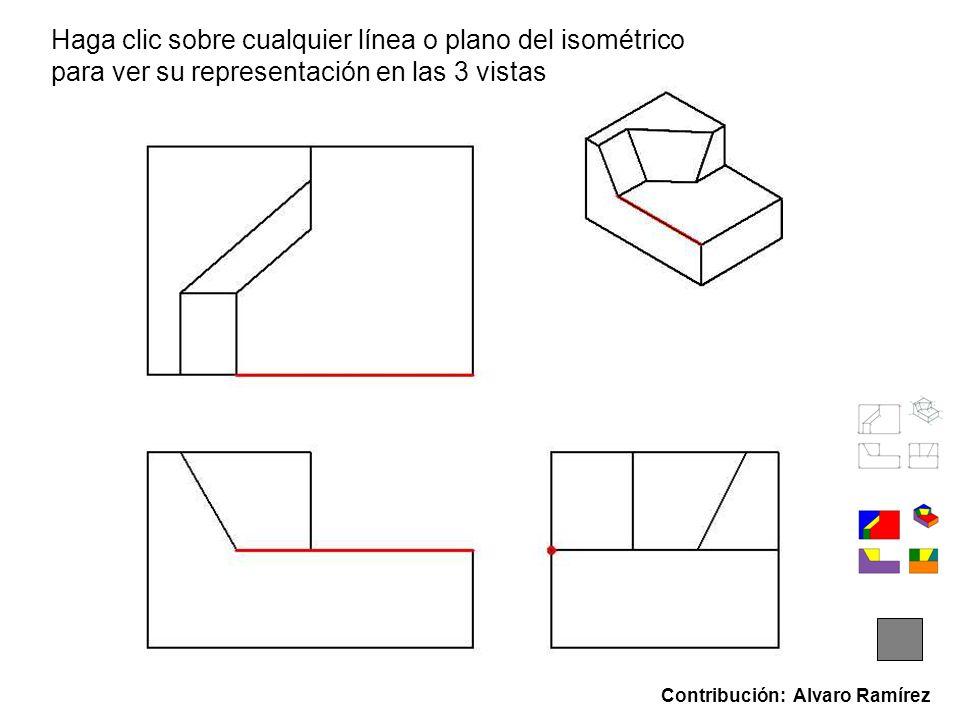 Haga clic sobre cualquier línea o plano del isométrico